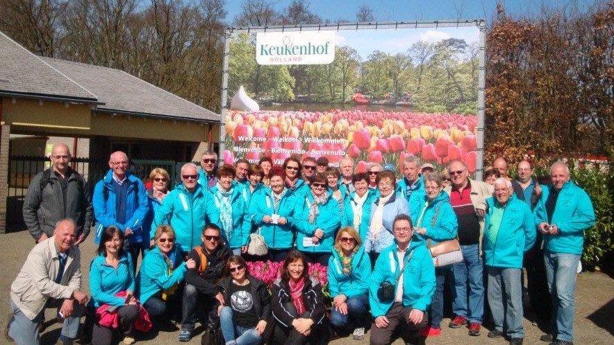 Gruppenbild Keukenhof Holland